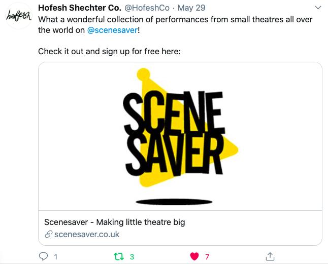 Hofesh Schecter Tweet