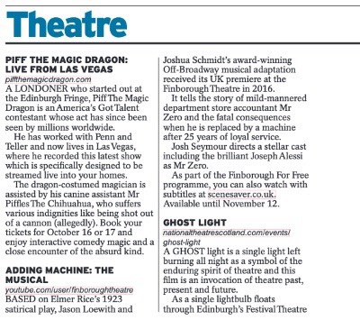 Daily Express Theatre Section