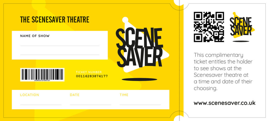 Scenesaver Theatre ticket to customise
