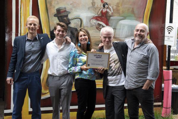 Caroline Friedman presents award for online theatre atBrighton Fringe Awards